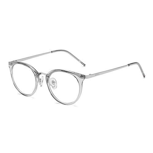 DONNA Stylish Clear Lens Frame Glasses Samll Circle Blue Light Blocking for Computer ()