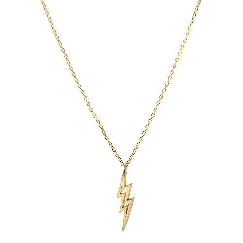 Spinningdaisy Handcrafted Brushed Lightning Necklace