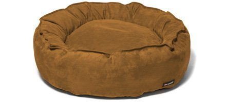 Big Shrimpy Nest Dog Bed - Medium Saddle Suede - 420 Denier