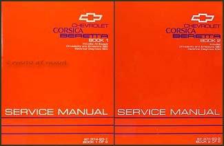 1993 Chevy Corsica & Beretta Repair Shop Manual Original 2 Volume Set