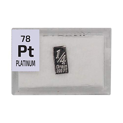 - Platinum Bar Ingot(1/4 Grain), 99.9% Pure Element Sample in a PEGUYS Periodic Element Tile.