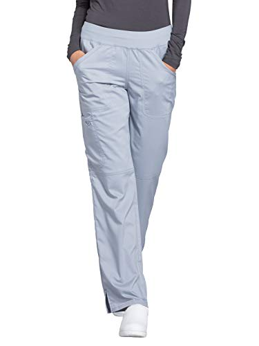 Greys Workwear Cherokee Scrubs - Cherokee WW Revolution WW110 Mid Rise Pull-On Cargo Pant Grey L