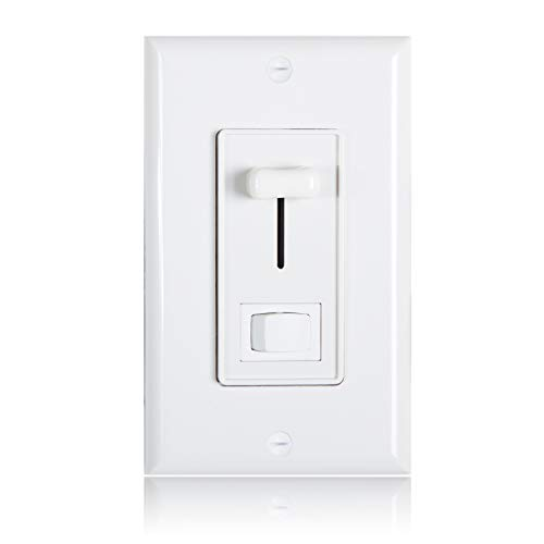 - Maxxima 3-Way/Single Pole Dimmer Electrical light Switch 600 Watt max, LED Compatible, Wall Plate Included