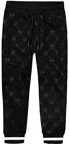 Black n Bianco Boys Sweatpants Jogger Trousers Presented by Captain Baby Milan (6, Monogram Black)