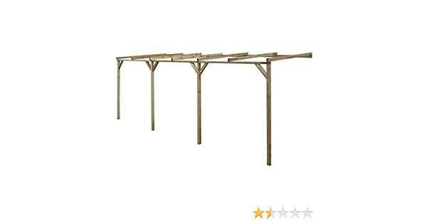 tidyard pérgola de jardín de pared (madera para Cool o Relax 2 X 3 X 2,2 m, tamaño 2 x 6 x 2,2 m: Amazon.es: Hogar