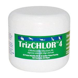 TrizCHLOR 4 Wipes – Chlorhexidine 4% – 50 wipes, My Pet Supplies