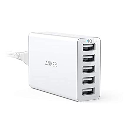 Anker 40W 5-Port USB Wall Charger, PowerPort 5 for iPhone Xs/XS Max/XR/X/8/7/6/Plus, iPad Pro/Air 2/Mini, Galaxy S9/S8/Plus/Edge, Note 8/7, LG, Nexus, ...