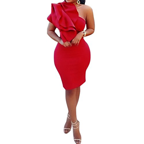 Women's One Shoulder Bodycon Cocktail Party Evening Dresses