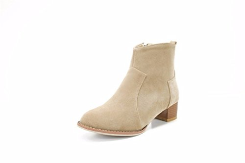 Autumn Apricot with with thick boots and suede female code winter Terry boots and PrPOgWzxqT