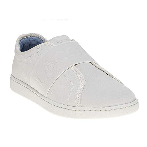 Evo Lacoste Blanco Zapatillas Carnaby Slip Mujer qWvwFBC
