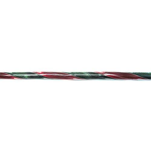 Bullseye Aventurine Green - Aventurine Green & Red Hand Pulled Glass Ribbon Cane - 90 COE