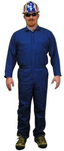Stanco NX4681RBXL Safety Products X-Large Royal Blue Nomex IIIA Arc Rated Flame Resistant Coveralls with Front Zipper Closure, English, 4.32 fl. oz, Plastic, 1 x 1 x 1 ()