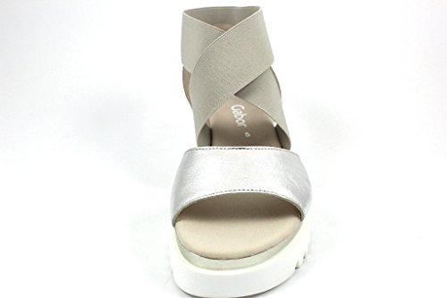 Gabor 63.612-60 - Sandalias de vestir para mujer metálico
