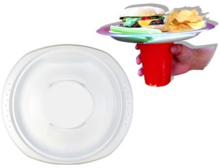 Amazon.com: KuploK Plate (Party Plate with Built-in Cup Holder,12-ct ...