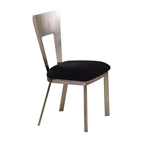 (ACME Camille Side Chair, Chrome Finish, Set of 2)