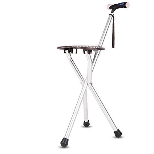 Walking stick stool Gehstock mit Hocker, leichte Aluminium-Gehhilfe, Rutschfeste Handschellen für ältere Menschen