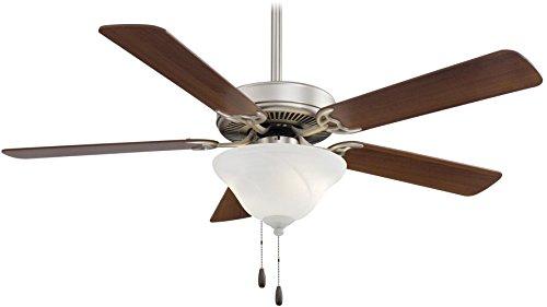 5 Blade Swirl Ceiling Fan (Minka-Aire F548-BS/DW, Contractor Uni-Pack, 52