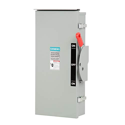 Siemens DTGNF223NR 100-Amp, 2 Pole, 240-volt, 3 Wire, General Duty, Double Throw, Type 3R