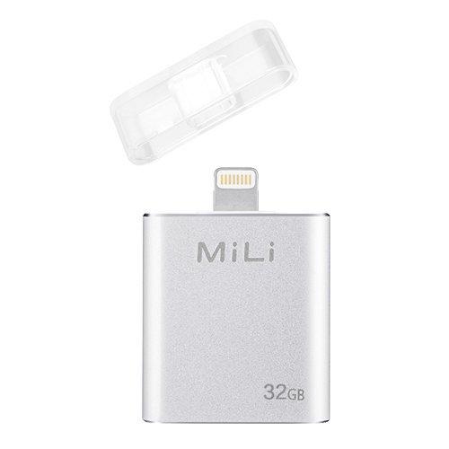 USB Flash Drive [Apple MFi Certified] MiLi iData 32GB Portable Storage USB Flash Drive Specialized for iphone 6/6 plus/5/5s/5c/ipad 4/ipad mini/i Mac/ipod With Lightning Device - Silver