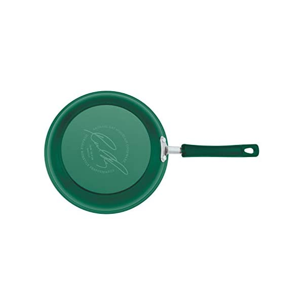 Rachael Ray Brights Nonstick Cookware Pots and Pans Set, 14 Piece, Fennel Gradient 5