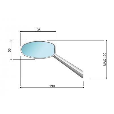 BS080B//271 RIZOMA RIZOMA R/étroviseur Dynamic COULEUR NOIR BS080B//271