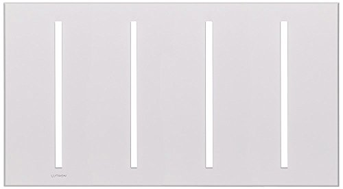 Vierti Accessory (Lutron VTW-4-WH Vierti 4 Gang Faceplte Pkgd Wh White)