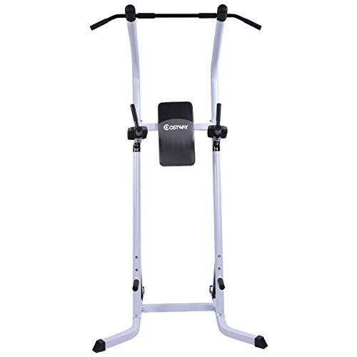 Costway Chin Up Power Tower Rack Pull Up Weight Stand Bar Leg Raise Home Gym Workout Fitness Equipment by COSTWAY