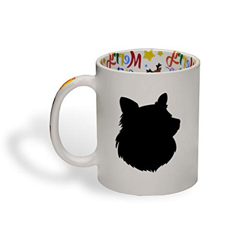 and Sheepdog Silhouette Ceramic Christmas Coffee Mug Xmas Tea Cup 11 Oz ()