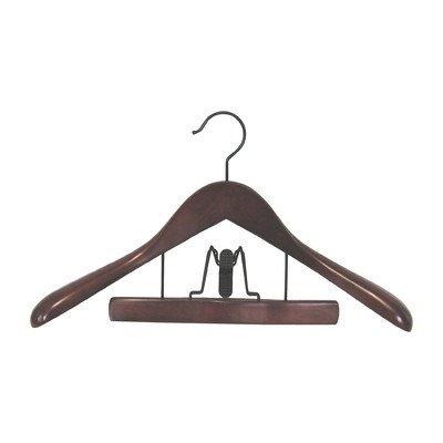 Proman TRF8839 Taurus Suit Hanger with Trouser Clamp Mahogany - 12 hangers by Proman Products