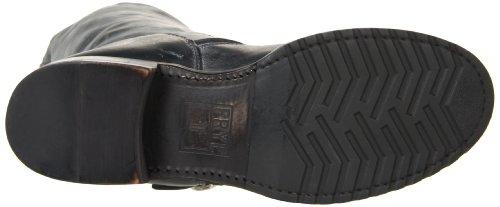 Frye Kvinna Veronica Kort Boot Svart Skinande Antiqued Läder-76.514