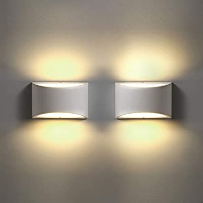 LED Wall Sconces Set of 2, Sconce Wall Lighting 9W 3000K Warm White Modern Wall Light for Stairway Bedroom Hallway Bathroom Porch Living Room Hotel (2 Pack)