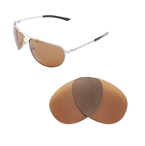 Walleva Replacement Lenses For Smith Serpico Sunglasses - Multiple Options available (Brown - - Replacement Lenses Smith Sunglass