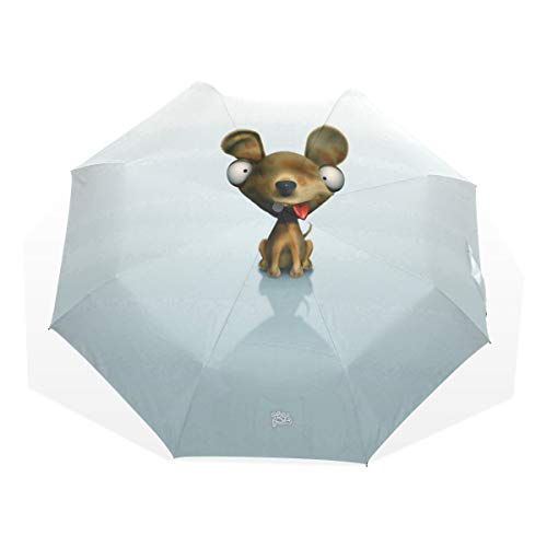 Umbrella 3D Dog Travel Golf Sun Rain Windproof umbrellas with UV Protection for Kids Girls Boys
