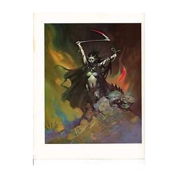 "1975 full Color Plate /""Caveman/"" by Frank Frazetta Fantastic"