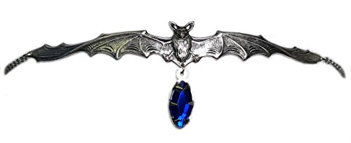 Vampire Bat Headpiece w/ Dark Blue Stone (Bat Tiara Gothic)
