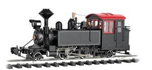 """Bachmann Industries 2-4-2 Black/Red Windows & White Pinstripes - Large """"G"""" Steam Locomotive (1:20.3 Scale)"""