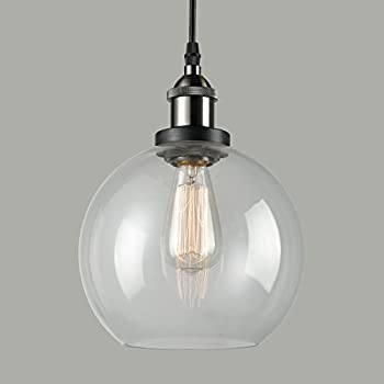 CLAXY Ecopower Lighting Vintage Clear Glass shade Pendant Lighting--1 Light & CLAXY Ecopower Lighting Vintage Clear Glass shade Pendant Lighting ... azcodes.com