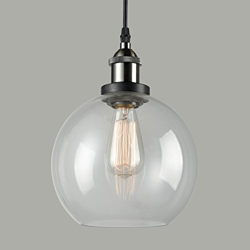 Pendant Lights With Clear Glass Globes - 7