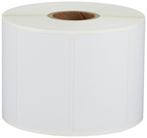 AmazonBasics Permanent Adhesive Address Labels for Direct Thermal Printers, White, 2-1/4'' x 1-1/4'', 1,000 Labels per Roll, 12 Rolls ()