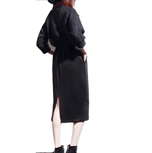 Partito Sera Chfashion Abito Palla Delle Di Clubwear Donne Sexy Elegante Del Dell'annata Nero Lungo RXFwOqtZ