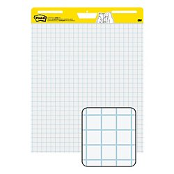 Post-it Super Sticky Easel Pad, 25 x 30 Inches, 30 Sheets/Pad, 1 Pad (560SS), Large White Grid Premium Self Stick Flip Chart Paper, Super Sticking (Super Sticky Self Stick Easel)