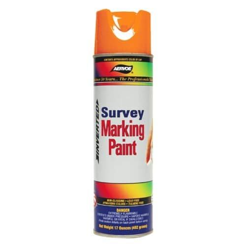 Marking Paint Aervoe (Aervoe 222 Fluorescent Survey Marking Paint, Aerosol 20 oz.(Orange))