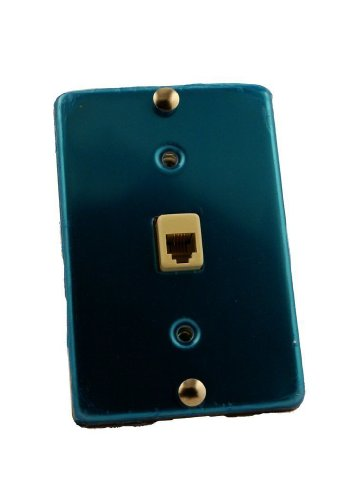 1/ 630A Stainless Steel Wall Phone Jack 4C Mounting Plate w/Screw Terminals (Plate Professional Steel Wall)