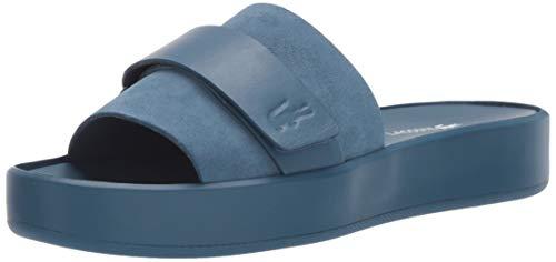 (Lacoste Women's PIRLE Sandal Blue, 7 Medium)