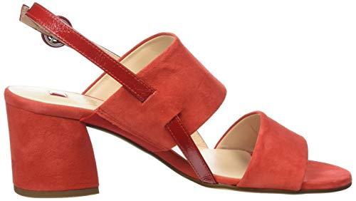 scarlet Rojo 4300 De Högl Talón Mujer Painty Sandalias Abierto Para 8WwPT