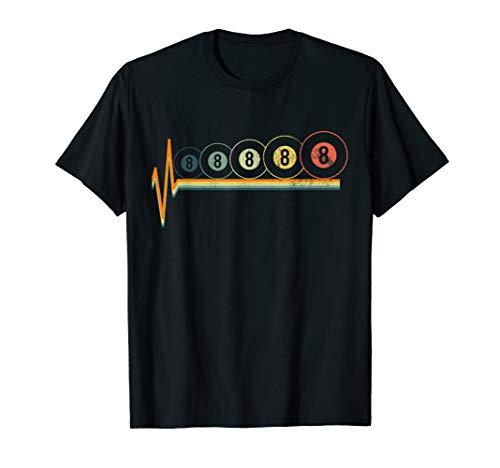 Billiards T-Shirt Eight Ball Tshirt Vintage Retro Tees Gift