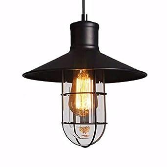 ZPSPZ lámpara colgante Restaurante de aves de jaula de vidrio ...