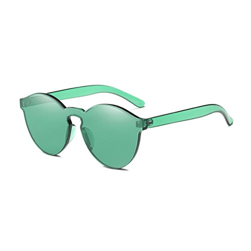 GBSELL Fashion Women Girl Cat Eye Shades Sunglasses UV Candy Colored Glasses (Green)
