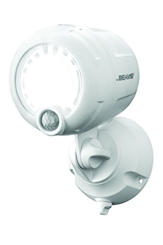 - Mr. Beams MB360XT-WHT-01-00 Wireless 200 lm Battery-Operated Outdoor Motion-Sensor-Activated LED Spotlight, White