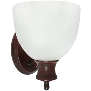 Efficient Lighting Interior Wall Sconce Lighting Fixture With Built In  Switch, Energy Star Qualified